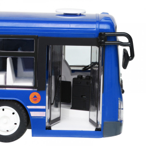 Autobuz de jucarie RC cu telecomanda Double Eagle, albastru, 5.5Km/h, lumini fata/spate, sunete demo, usi automate2