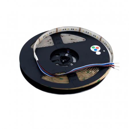 Banda LED Aqara 5M RGBW, 16 milioane culori, 12V, SMD 5050, IP65, 1100 lumeni/metru, 1A/m2