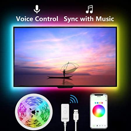 Banda LED smart RGB Gosund SL1 NiteBird, 2.8 metri, WiFi, compatibila ecosistem Smart Life, Google Home, Alexa [2]