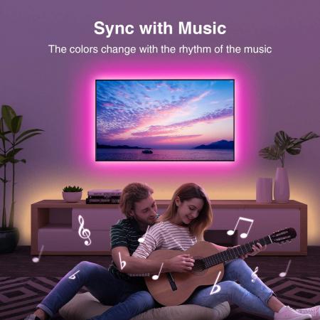 Banda LED smart RGB Gosund SL1 NiteBird, 2.8 metri, WiFi, compatibila ecosistem Smart Life, Google Home, Alexa4
