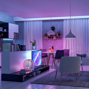 Banda LED smart Yeelight 1S varianta EU, 16 mil culori, compatibila Mi Home EU, Google Home, Alexa, Homekit, Smartthings, Razer Chroma3