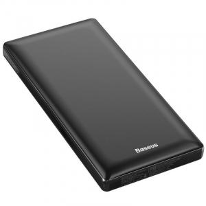 Power Bank Baseus Mini JA, 20000mAh, 2 x USB, Type-C, Micro USB, max 3A, incarcare duala simultana, negru0