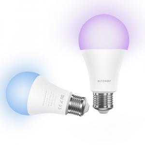 Bec LED Blitzwolf RGBW, 10W, WiFi 2.4Ghz, 16mil culori, 900 lumeni, ecosistem Smart Life, compatibil Google & Alexa1