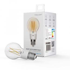 Bec LED smart Yeelight filament, Wi-Fi, control de la distanta, 700 lm, compatibil Google, Homekit, SmartThings0