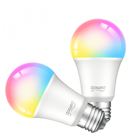 Bec LED smart Gosund, 16 milioane culori, WiFi 2.4Ghz, 8W, E27, 800 lumeni, compatibil Smart Life, Google Home & Alexa [0]