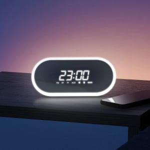Boxa wireless afisaj LED Baseus Encok E09 cu ceas, radio si lumina de noapte, bluetooth 4.2, jack 3.5mm, microSD1