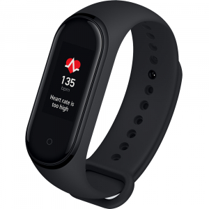 "Bratara fitness Xiaomi MI Band 4, HR, AMOLED 0.95"" RGB, waterproof, bluetooth 5.0, 20 zile autonomie, EU, negru"