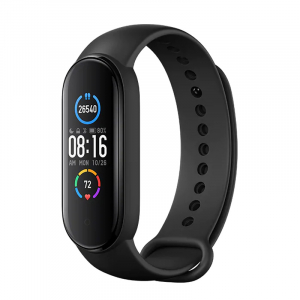 "Bratara fitness Xiaomi MI Band 5, PPG, AMOLED 1.1"" RGB, waterproof, bluetooth 5.0, 11 sporturi, EU, negru0"
