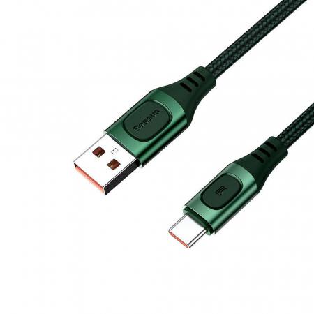 Cablu de incarcare Baseus Quick Charge USB-C, Huawei SCP, Samsung AFC, 5A, 2m, QC3.0, verde1