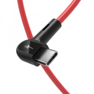 Cablu incarcare Blitzwolf AC1, USB-C, 5V 3A, 1.8 metri lungime, 22AWG power + 30 AWG Data, rosu1