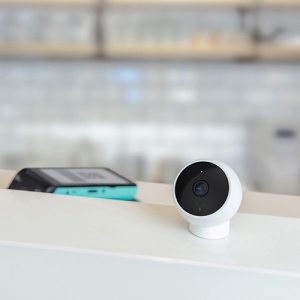 Camera smart WiFi Xiaomi 1080P, resigilata, baza magnetica, EU, IP65, senzor miscare, infrarosu, intercom, FOV 170°1