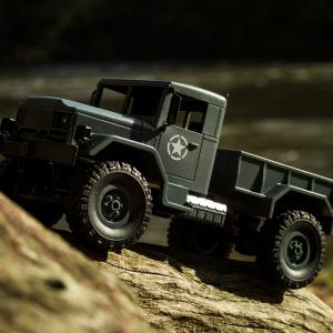Camion militar RC cu telecomanda Funtek CR4, 1:16, 4WD, green, 700 mAh, lumini LED, sarcina maxima 3kg6
