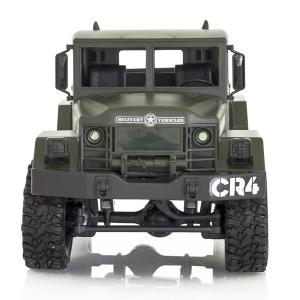Camion militar RC cu telecomanda Funtek CR4, 1:16, 4WD, green, 700 mAh, lumini LED, sarcina maxima 3kg1