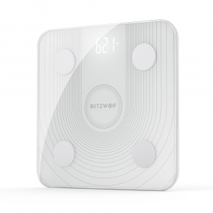 Cantar smart Blitzwolf body fat scale BW-SC1, Wi-Fi 2.4Ghz, masurare 13 date corporale, display LED, aplicatie iOS & Android0
