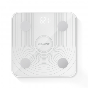 Cantar smart Blitzwolf body fat scale BW-SC1, Wi-Fi 2.4Ghz, masurare 13 date corporale, display LED, aplicatie iOS & Android1