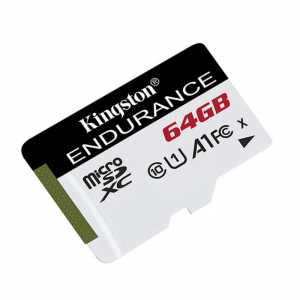 Card memorie Kingston Endurance, Micro-SDXC A1, 64GB, clasa 10, 95 MB/s0