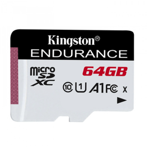 Card memorie Kingston Endurance, Micro-SDXC A1, 64GB, clasa 10, 95 MB/s1