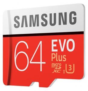 Card de memorie Samsung Micro-SDXC, EVO Plus 64GB, 100 MB/s, Clasa 10, UHS-I U3, adaptor SD inclus3