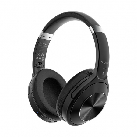 Casti wireless BlitzWolf BW-HP3, Bluetooth 5.0, diafragme grafen 40mm, 300mAh, 3.5mm audio, microfon incorporat [0]