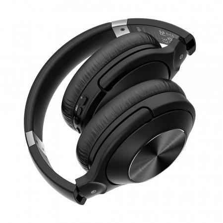 Casti wireless BlitzWolf BW-HP3, Bluetooth 5.0, diafragme grafen 40mm, 300mAh, 3.5mm audio, microfon incorporat [4]