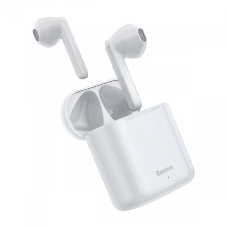 Casti wireless Baseus Encok TWS W09, bluetooth 5.0, tehnologie DSP, design ergonomic, dock 450 mAh, albe [1]