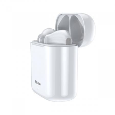 Casti wireless Baseus Encok TWS W09, bluetooth 5.0, tehnologie DSP, design ergonomic, dock 450 mAh, albe [3]