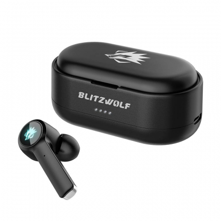 Casti gaming Blitzwolf BW-FLB2 TWS, bluetooth 5.0, IPX 4, virtual surround, DSP Noise cancellation, Negre1