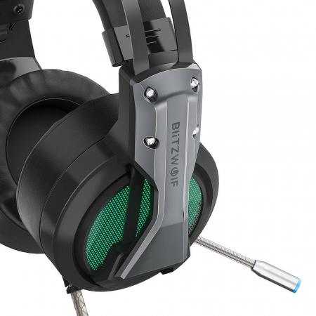 Casti gaming  BlitzWolf BW-GH1 cu sunet Surround 7.1, lumina LED RGB, izolare fonica, structura ergonomica si design elegant [1]