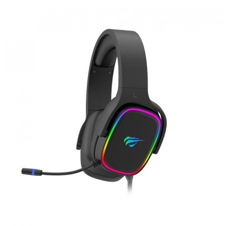 Casti gaming Havit H2029U, lumina RGB, sunet 3D, microfon incorporat, USB 7.1, 50mm diafragma [0]