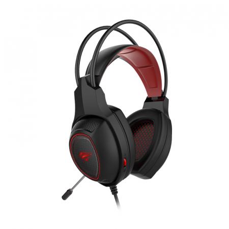 Casti gaming Havit Gamenote H2239D, microfon inclus, iluminare rosie cu LED in fundal, interfata USB si jack 3.5mm [3]