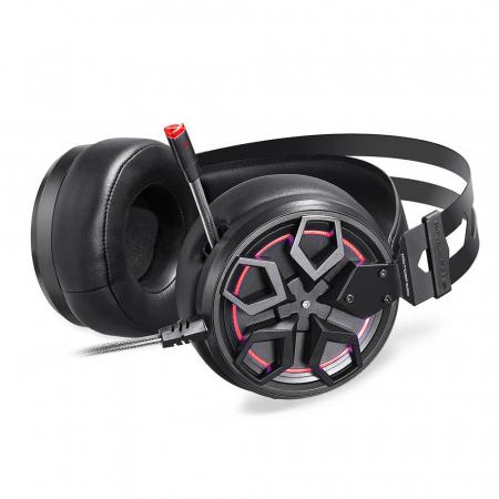 Casti Gaming Motospeed H60, sunet 3D, 50mm driver, audio 7.1, microfon, cablu 2.1m, negru1