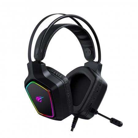 Casti gaming Havit Gamenote H656d, iluminat RGB, difuzoare 50mm, audio 3.5mm + USB, cablu 2.2 metri, microfon, compatibile PS4 / PS5 [1]