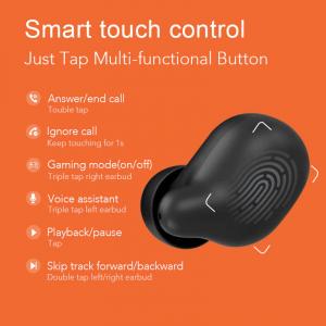 Casti Xiaomi TWS Haylou T15 Falcon, Bluetooth 5.0, powerbank-dock 2200mAh, touch control, IPX5, AAC, DSP, Negru5