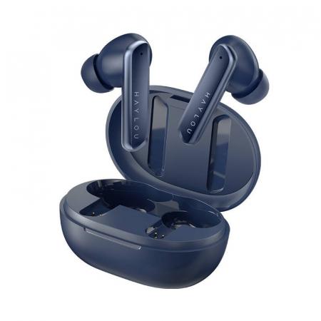 Casti premium wireless Haylou W1 TWS model 2021, Bluetooth 5.2, drivere dinamice Knowles, touch control, aptX adaptive, SBC, AAC, albastru [1]