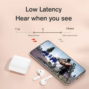 Casti wireless TWS Xiaomi Haylou T19, Qualcomm QCC3020 AptX + AAC, bluetooth 5.0, senzor infrarosu, incarcare wireless, varianta EU4