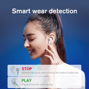 Casti wireless TWS Xiaomi Haylou T19, Qualcomm QCC3020 AptX + AAC, bluetooth 5.0, senzor infrarosu, incarcare wireless, varianta EU1