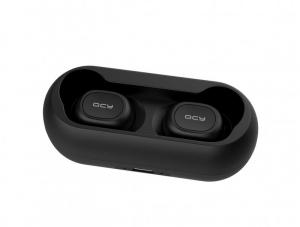 Casti wireless Xiaomi QCY T1 earbuds, TWS, bluetooth 5.0, stereo,  microfon, modul Realtek, 380 mAh, negre4