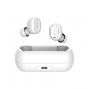 Casti wireless Xiaomi QCY T1 earbuds, TWS, bluetooth 5.0, stereo,  microfon, modul Realtek, 380 mAh, albe0