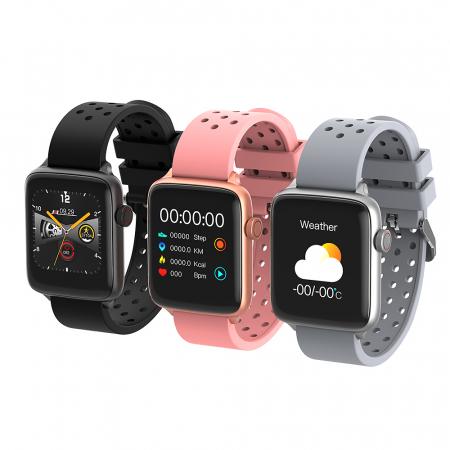 Smartwach Blitzwolf BW-HL1 Pro, full touch 1.54'', IP68, 260mAh, Bluetooth 5.0, monitorizare ritm cardiac, activitati, notificari, negru [2]