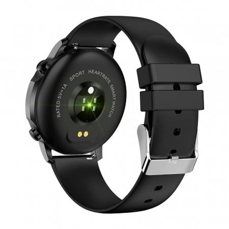 Smartwatch Colmi V23 Pro, masurare ritm cardiac, temperatura, SP02, activitati sportive, ecran 1.28″ TFT, bluetooth 5.0, negru [2]