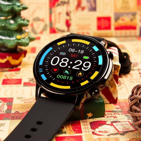 Smartwatch Colmi V23 Pro, masurare ritm cardiac, temperatura, SP02, activitati sportive, ecran 1.28″ TFT, bluetooth 5.0, negru [3]