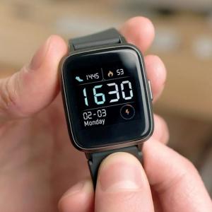 Smartwatch Xiaomi Haylou LS01, IP68 waterproof, 9 moduri sport, bluetooth, notificari, 14 zile autonomie, negru1