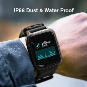 Smartwatch Xiaomi Haylou LS01, IP68 waterproof, 9 moduri sport, bluetooth, notificari, 14 zile autonomie, negru5