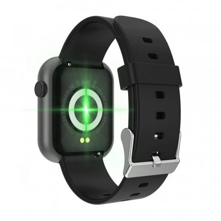 Smartwatch Colmi P9, 210 mAh pana la 10 zile autonomie, senzor HR, notificari, monitorizare nivel oxigen din sange, somn, IP67, negru2