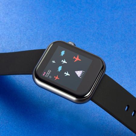 Smartwatch Colmi P9, 210 mAh pana la 10 zile autonomie, senzor HR, notificari, monitorizare nivel oxigen din sange, somn, IP67, negru3