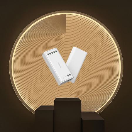 Controller & dimmer smart Aqara T1, pentru benzi LED RGBW, ZigBee 3.0, monitorizare consum, integrare Aqara Home EU & Homekit3