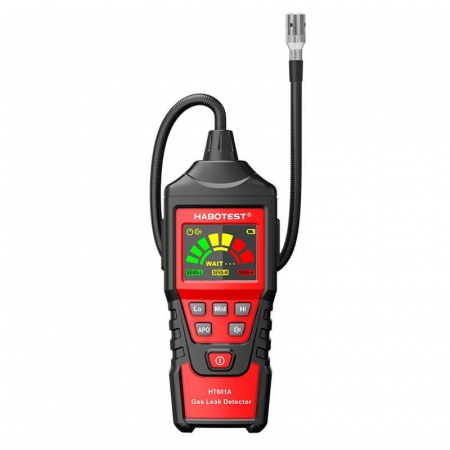 Detector portabil pentru scurgeri gaze Habotest HT601A, display LCD, alerta sonora si vizuala, auto zero [0]