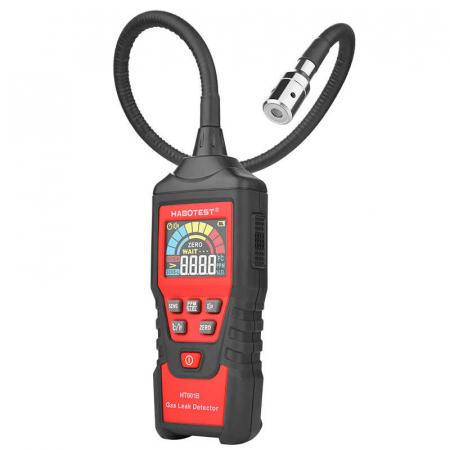 Detector pentru scurgeri de gaze si aparat masurare temperatura ambientala Habotest HT601B, display LCD, alarma, senzor precis [1]