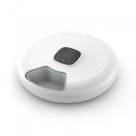 Dispenser de hrana smart Petoneer NutriSpin, 6 compartimente, display TFT, programabil, USB-C, compatibil Tuya/Smart Life [0]