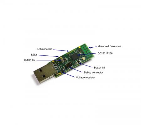 Dongle Zigbee CC2531 cu USB, compatibil IEEE802, suporta pana la 30 device-uri [2]